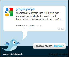 AdWords Ad in Twitter