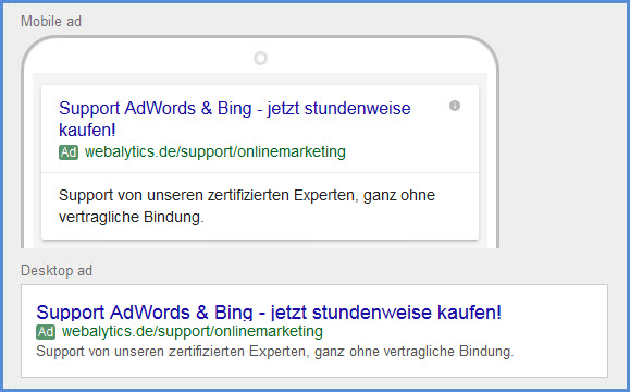 Textanzeigen AdWords - The Next Generation